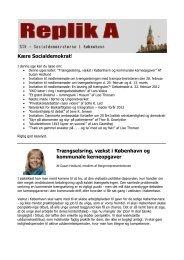 Trængselsring, vækst i København og kommunale kerneopgaver