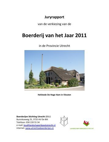Boerderij van het Jaar 2011 - Landschap Erfgoed Utrecht