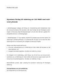 Styrelsens förslag till utdelning - PostNord