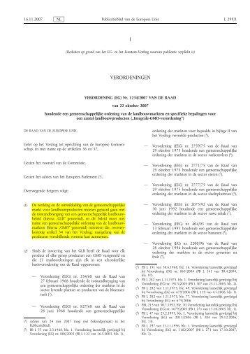 Verordening (EG) nr. 1234/2007 - EUR-Lex