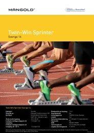 twin-win sprinter sverige 14 - Mangold Fondkommission