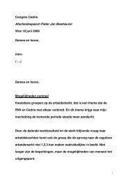 Speech Afscheid Cedris - Raad voor Werk en Inkomen
