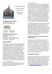 Contact en Informatie - Marcuskerk