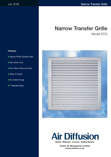 Narrow Transfer Grille