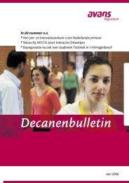 Decanenbulletin - Avans Hogeschool