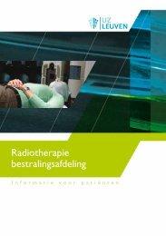 Radiotherapie bestralingsafdeling - UZ Leuven