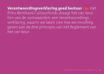 Verklaring goed bestuur 2012 - Jaarverslag Prins Bernhard ...