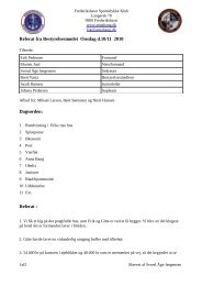 Referat fra Bestyrelsesmødet Onsdag d.10/11 2010 Dagsorden ...