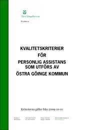 Personlig assistans - Östra Göinge kommun