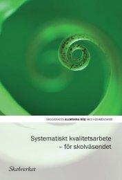 Allmänna råd för systematiskt kvalitetsarbete - Gotland