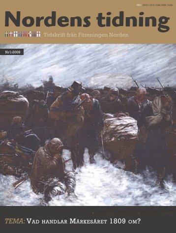 Nordens Tidning nr 1 2009 - Föreningen Norden
