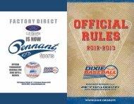2013 DBB Rules & Regulations - Dixie Youth Baseball