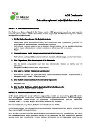 AGB Oosterzele AGB Oosterzele Gebruiksreglement vrije reglement ...