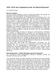 1816 -1919: Das 'Vergessene Land' von Neutral-Moresnet