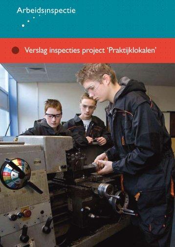 Verslag inspecties project 'Praktijklokalen'