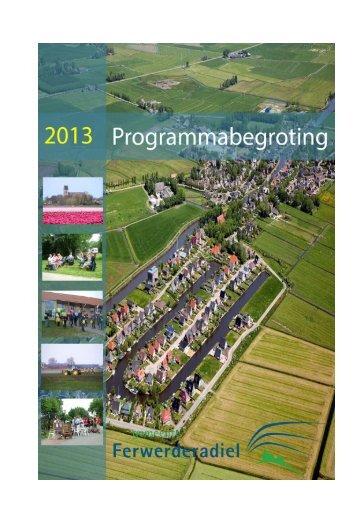 Begroting 2013 downloaden - Gemeente Ferwerderadiel