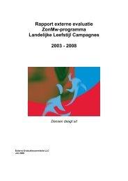 Rapport externe evaluatie ZonMw-programma Landelijke Leefstijl ...
