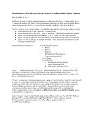 Informationsbrev til forældre med børn, der deltager i ...