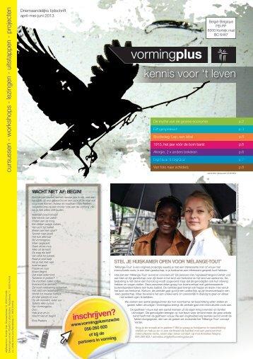 kennis voor 't leven - Vormingplus Midden en Zuid West-Vlaanderen
