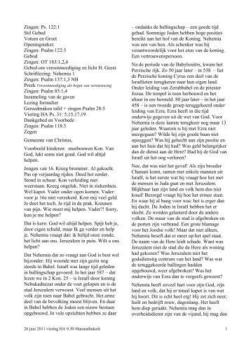 Nehemia 1:1-4 - Ds. GC Vreugdenhil