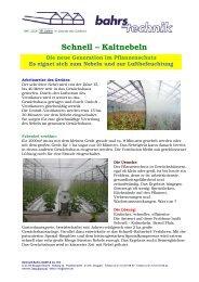 Schnell – Kaltnebeln - Bahrs GmbH & Co KG