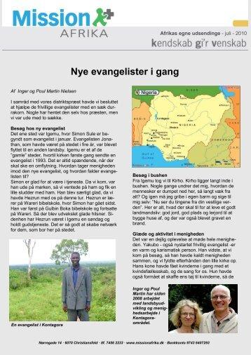 Nye evangelister i gang - Mission Afrika