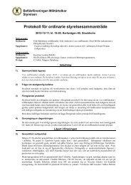 Protokoll för styrelsemöte 121211.pdf - Befälsföreningen Militärtolkar