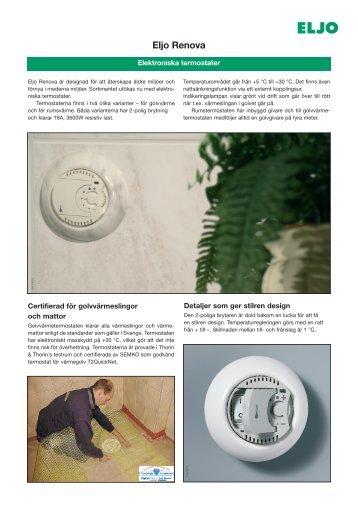Eljo Renova - Elektroniska termostater - Schneider Electric