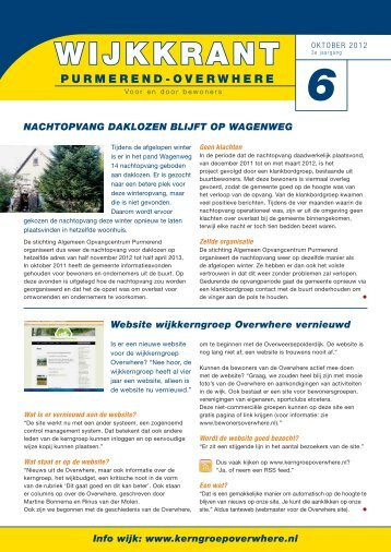 Wijkkrant oktober 2012 - Gemeente Purmerend