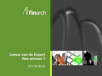 DOWNLOAD de presentatie van FinArch als pdf - Leeuw van de ...