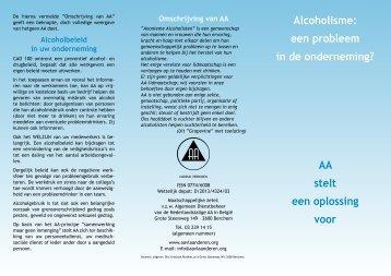 Alcoholisme: een probleem in de onderneming ... - AA Vlaanderen