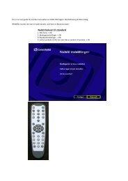 Nulstil boksen til standard - Jyllinge Kabel-TV Forening