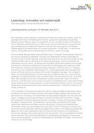 Ledarskap, innovation och mellanmjölk - Effect Management