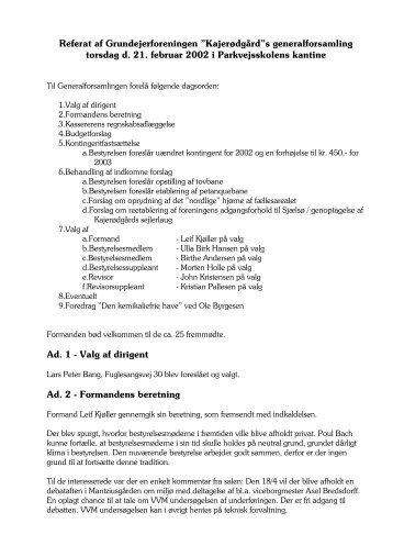 Hent referat 2002 (pdf) - G/F Kajerødgaard