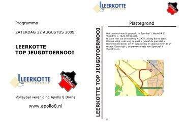 Programmaboekje Leerkotte 2009 def - Apollo 8