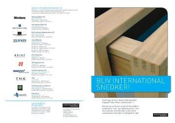 BLIV INTERNATIONAL SNEDKER! - Herningsholm Erhvervsskole