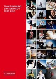 Team Danmarks sTøTTekoncepT 2009-2012