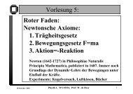Physik I, WS 03/04, Prof. W. de Boer