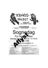 Kragekaldet 2007 nr 2 April - Maj - Kragefolket