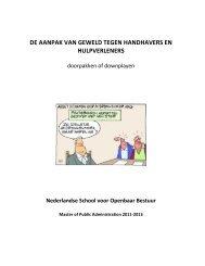 Workshop 11: Rapport NSOB - Politieacademie
