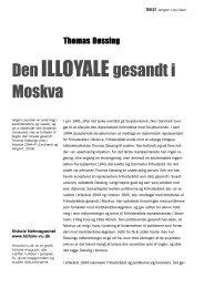 Den Illoyale gesandt i Moskva - Historie-nu.dk