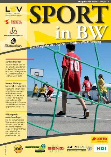 Sport in bw Nr. 06/11 - Badischer Sportbund Nord ev