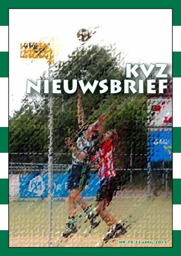 KVZ NIEUWSBRIEF - Korfbal Vereniging Zutphen