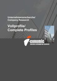 Vollprofile/ Complete Profiles - I-Conomic