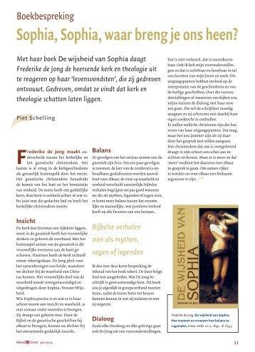 Lees het interview met Frederike en de review ... - Elmar, Uitgeverij