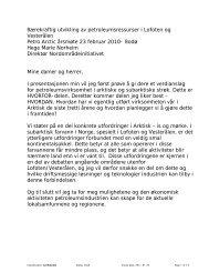 Bærekraftig utvikling av petroleumsressurser i Lofoten og ... - Statoil