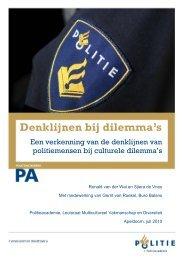 Denklijnen bij dilemma's - Politieacademie