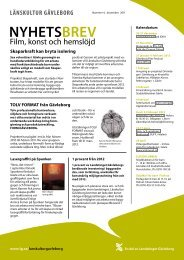Nyhetsbrev nr 4 - december 2011 - Landstinget Gävleborg