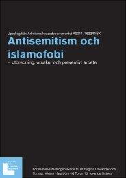 Rapport: Antisemitism och islamofobi.pdf - Forum för levande historia