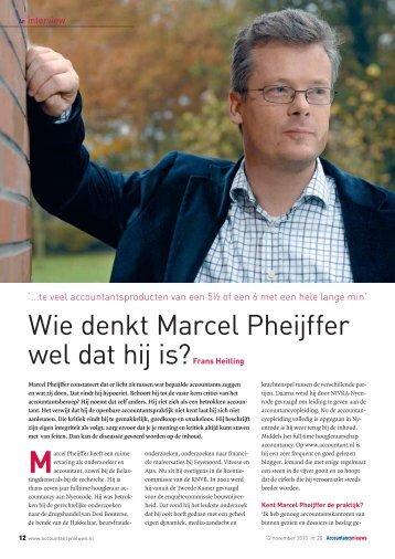 Wie denkt Marcel Pheijffer wel dat hij is?Frans Heitling